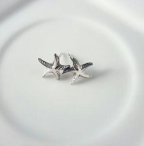 Simple Silver Starfish Stud Earrings
